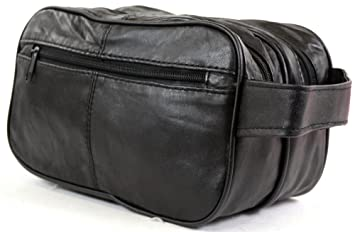 Image Unavailable. Image not available for. Colour  Men s Super Soft Nappa  Leather Toiletries   Travel ... 8169665448