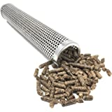 """Pellet Tube Smoker 12"""" Stainless Steel Smoker - For Use In Barbecue Grills and Smokers to Smoke Meats, Fish, Cheeses, Nuts, Brisket and Vegetables - BBQ Grill Accessories"""