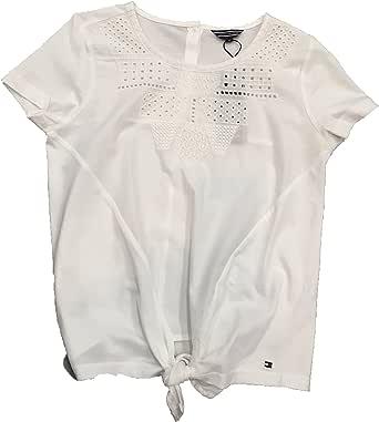 Tommy Hilfiger - Camiseta Blanca con Detalle Nudo para NIÑA: Amazon.es: Ropa y accesorios