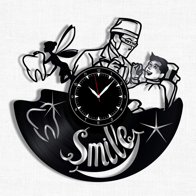 Dentist Vinyl Record Clock - Wall Clock Dentist - Best Gift for Dentist Lover - Original Wall Home Decor