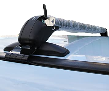Universal 4x4 Car Roof Bars Rain Gutter Mount Anti Theft Key No Rails Rack 50