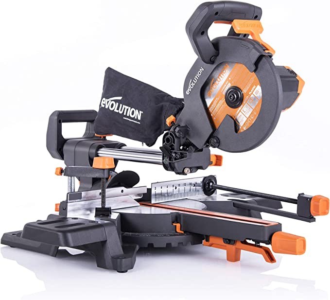 Evolution Power Tools R210SMS-300+ 048-0032A Multi-Material Sliding Mitre Saw with Plus Pack, 210 mm, 1500 W, 230 V: Amazon.de: Baumarkt