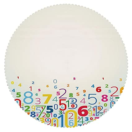 amazon com iprint durable round tablecloth mathematics classroom rh amazon com