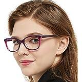 b9de8d3f4a1 OCCI CHIARI Non-prescription Black Eyewear Frames with Clear Lens Designer  For Womens