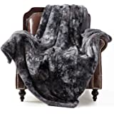 Bedsure Super Soft Fuzzy Faux Fur Reversible Tie-dye Sherpa Throw Blanket for Sofa, Couch and Bed - Plush Fluffy Fleece…