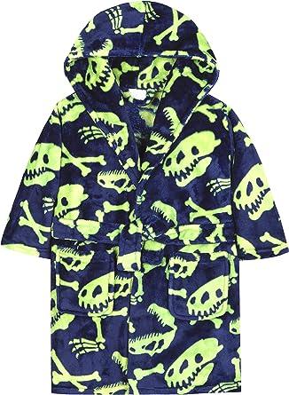 Minikidz Childrens//Boys Green Dinosaur Dressing Gown