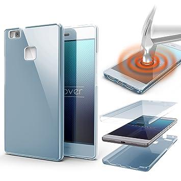 Urcover® Funda Huawei P9 Lite, Carcasa Protectora 360 Grados Silicona Gel en Transparente Full Body Protección Completa Delantera + Trasera, Huawei P9 ...