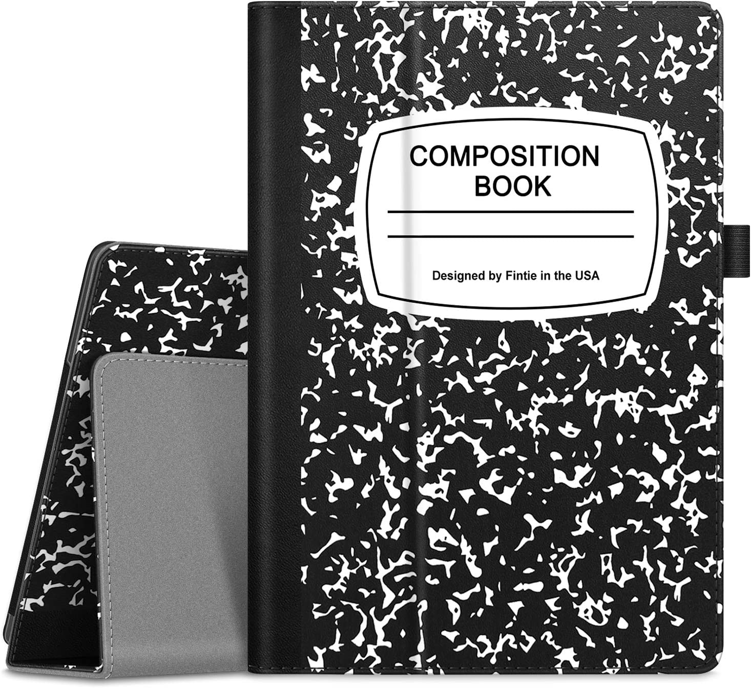 "Fintie Case for Lenovo Smart Tab M10 HD / P10 / M10 - Premium PU Leather Folio Cover for Lenovo Tab M10 HD TB-X505F TB-X505L / P10 TB-X705F TB-X705L / M10 TB-X605F 10.1"" Tablet, Composition Book Black"