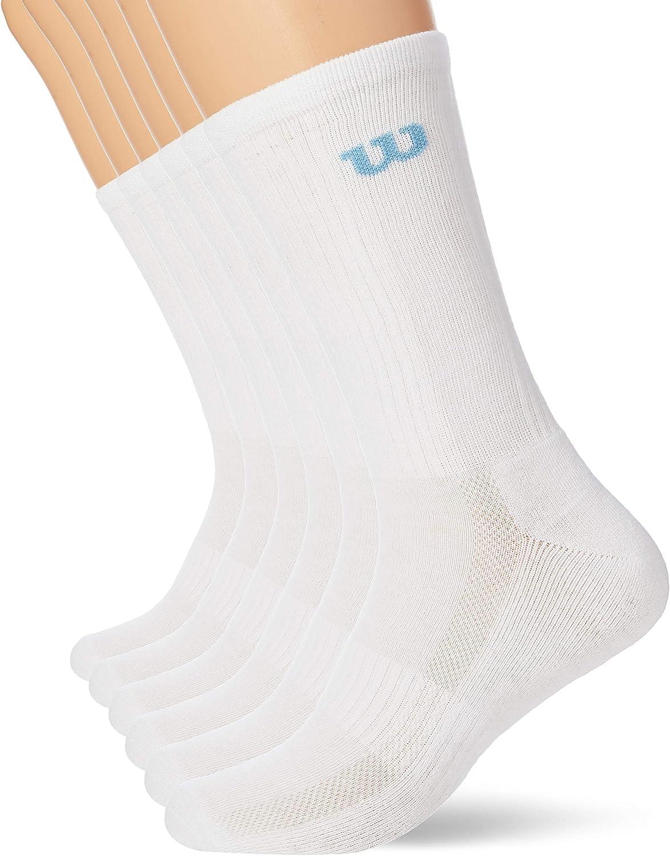 Pack of 6 Wilson Mens Crew Socks