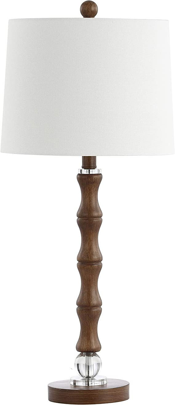 Safavieh Tbl4198a Lighting Collection Lukas Wood 28 Inch Table Lamp H Amazon Com
