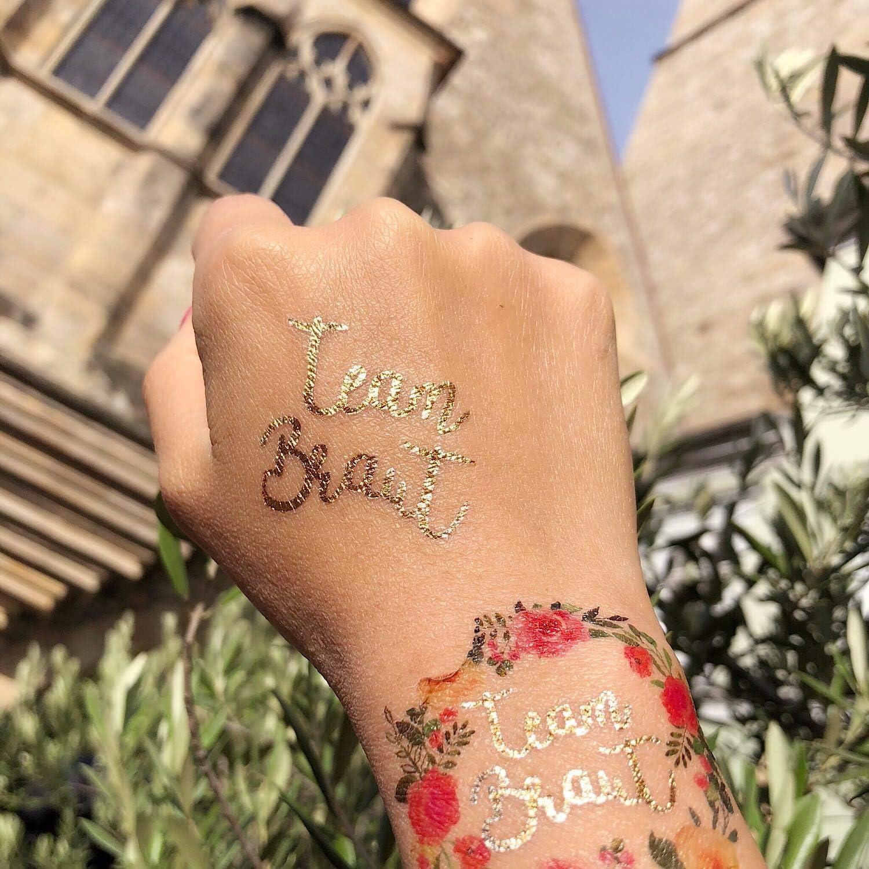 Oblique Unique® Tatuajes Adhesivos temporales JGA Boda Despedida ...