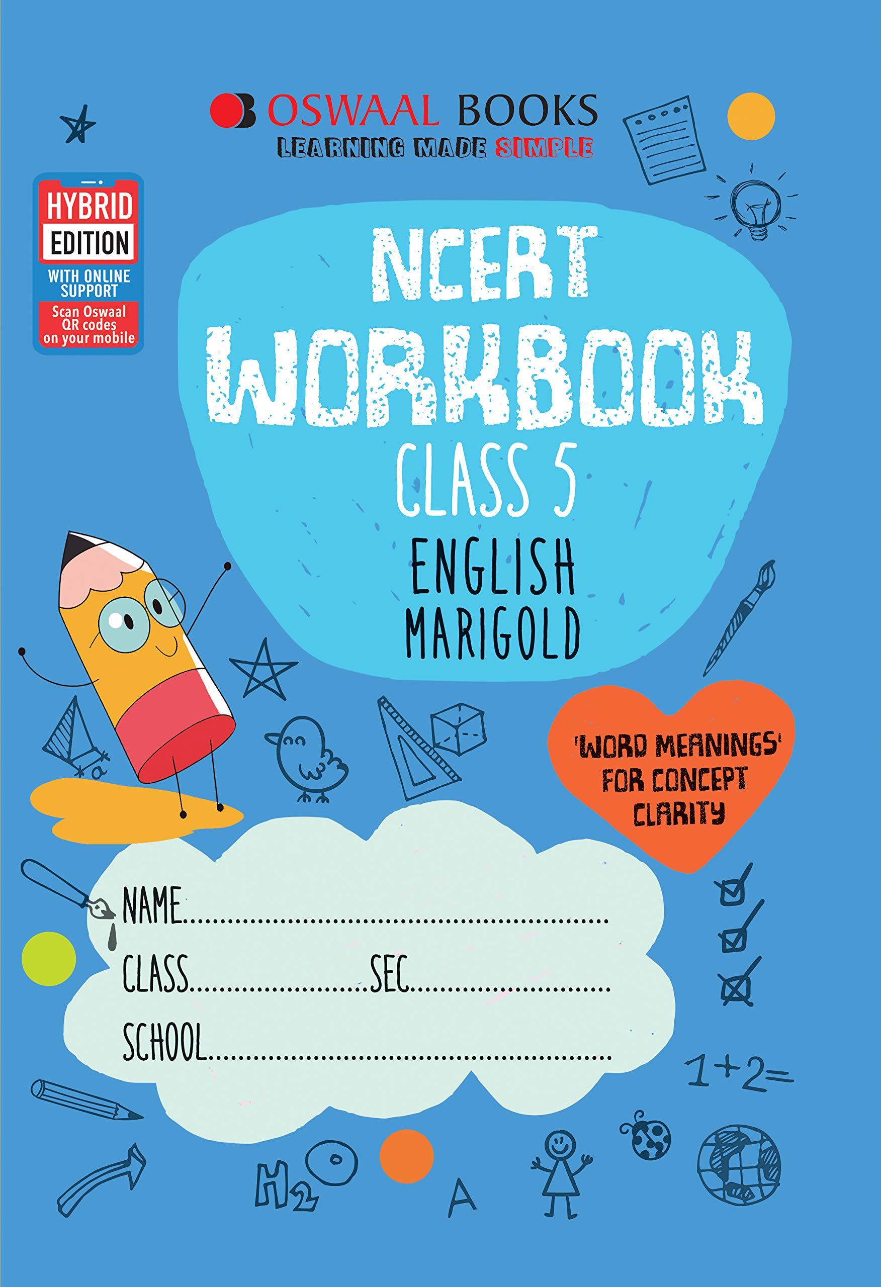 Oswaal NCERT Workbook Class 5 English Marigold Book