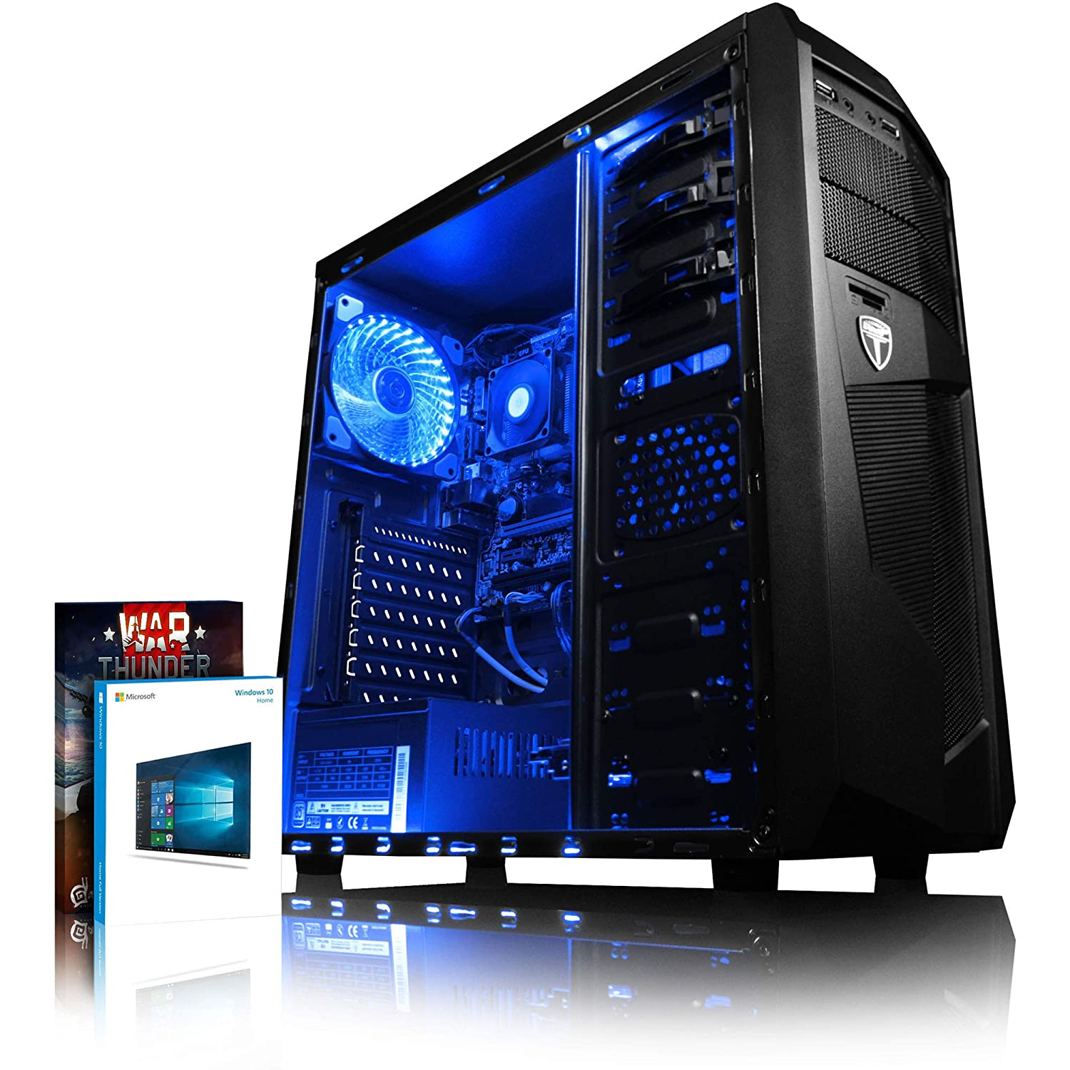 VIBOX Precision 6XS Gaming PC Ordenador de sobremesa con War Thunder Cupón de Juego, Windows 10 OS (4,0GHz AMD FX Quad-Core Procesador, Nvidia GeForce GT 710 Tarjeta Grafica, 16GB RAM, 2TB HDD)