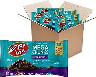 product image for Enjoy Life Baking Chocolate, Soy free, Nut free, Gluten free, Dairy free, Non GMO, Vegan, Paleo, Mega Chocolate Chunks, 10 Ounce Bag