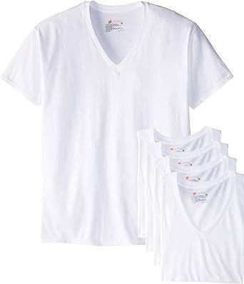 Hanes Ultimate Mens 6-Pack Best V-Neck T-Shirt