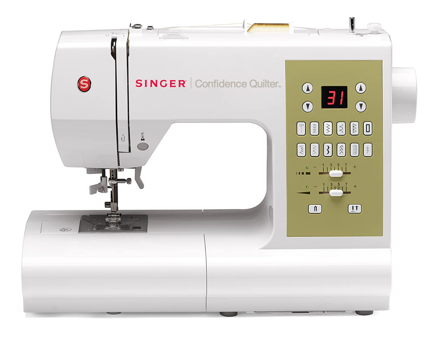 2 STAYBRIGHT LEDs,Best Sewing Machine for Quilting SINGER Confidence Quilter 7469Q Computerized Electronic Portable Sewing Machine with 98 Builtin Stitches Programmable Needle UpDown Easy Threading