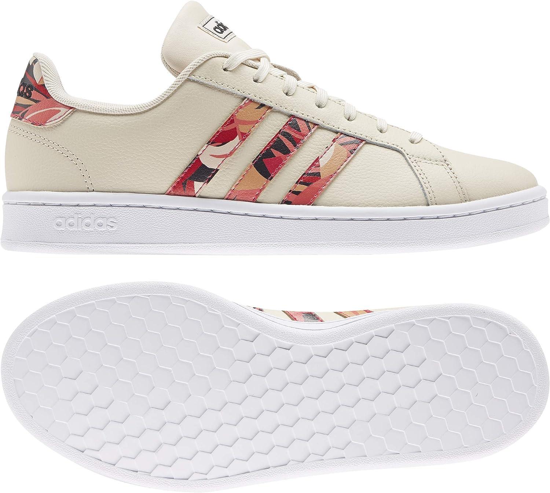 adidas Grand Court, Chaussures de Tennis Femme Lino Rossen Ftw Bla