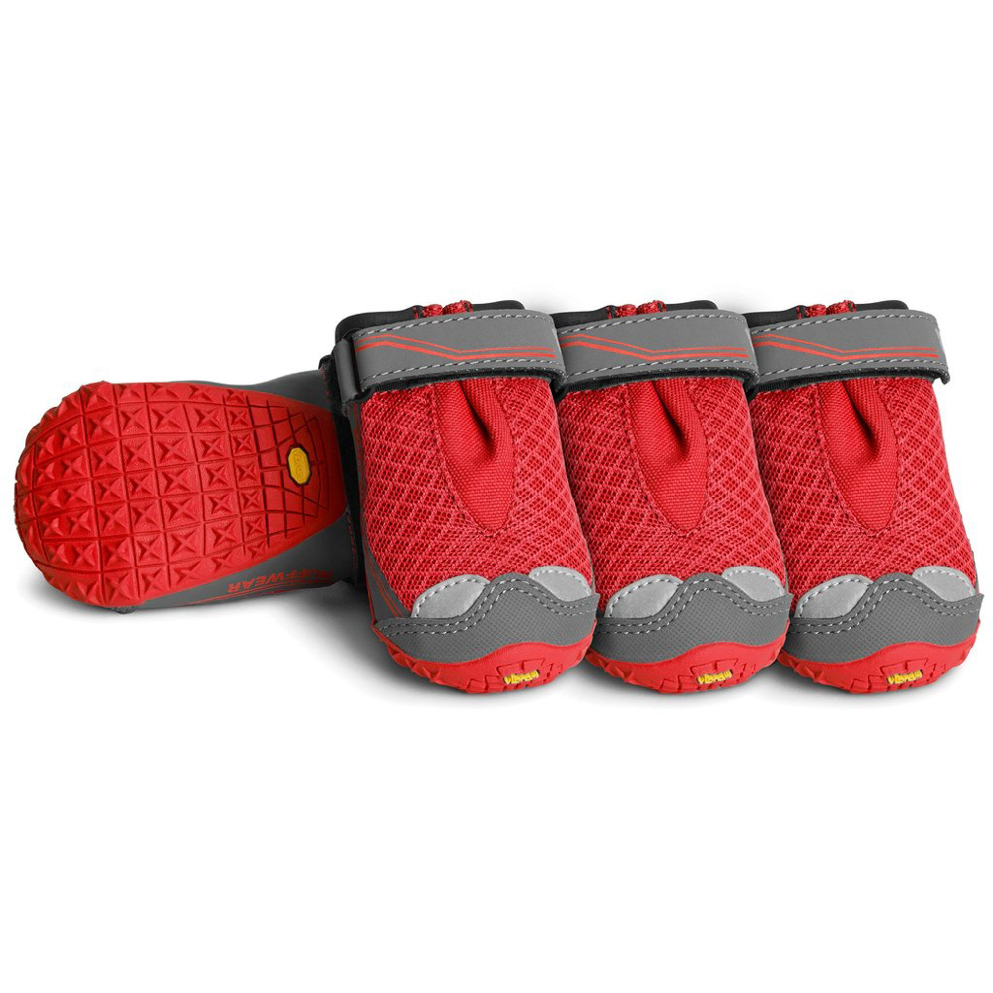 RUFFWEAR - Grip Trex, All-Terrain Paw Wear for Dogs, Red Currant, 1.75 in (Set of 4)