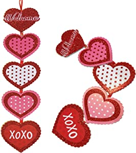 Hemmet Valentines Day Decor Welcome Sign for Front Porch 22