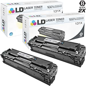 LD Remanufactured Toner Cartridge Replacement for HP 131X CF210X High Yield (Black, 2-Pack)