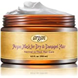 Vitamins Dry Damaged Hair Deep Conditioner Mask - Normal To Thick Hair Care Moroccan Argan Masque - Advanced Hair Conditioning Nourishment