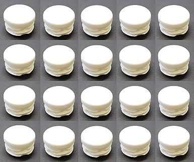 color blanco Tapones redondos de pl/ástico