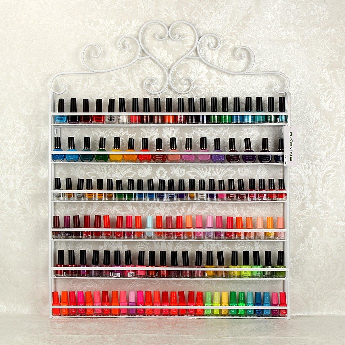 YUDA - Estantería de pared para esmaltes de uñas, 6 estantes, para ...