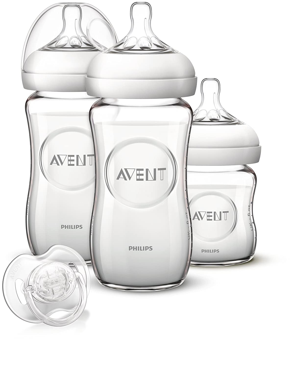 Avent Natural Baby Bottle Pure and Resistant Glass 120ml 0 Month + Philips Avent SCF671/17