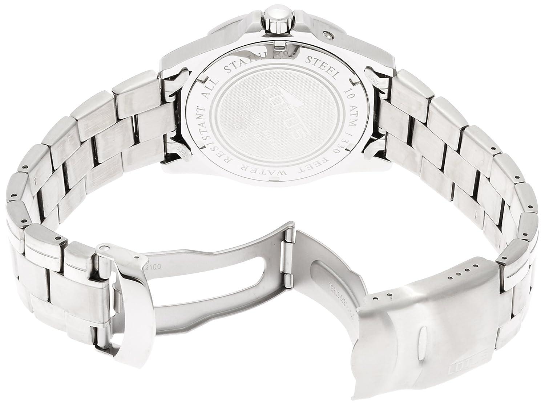 lotus 153013 montre homme quartz analogique bracelet acier inoxydable argent amazonfr montres