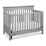 Graco Hayden 4-in-1 Convertible Crib, Pebble Gray