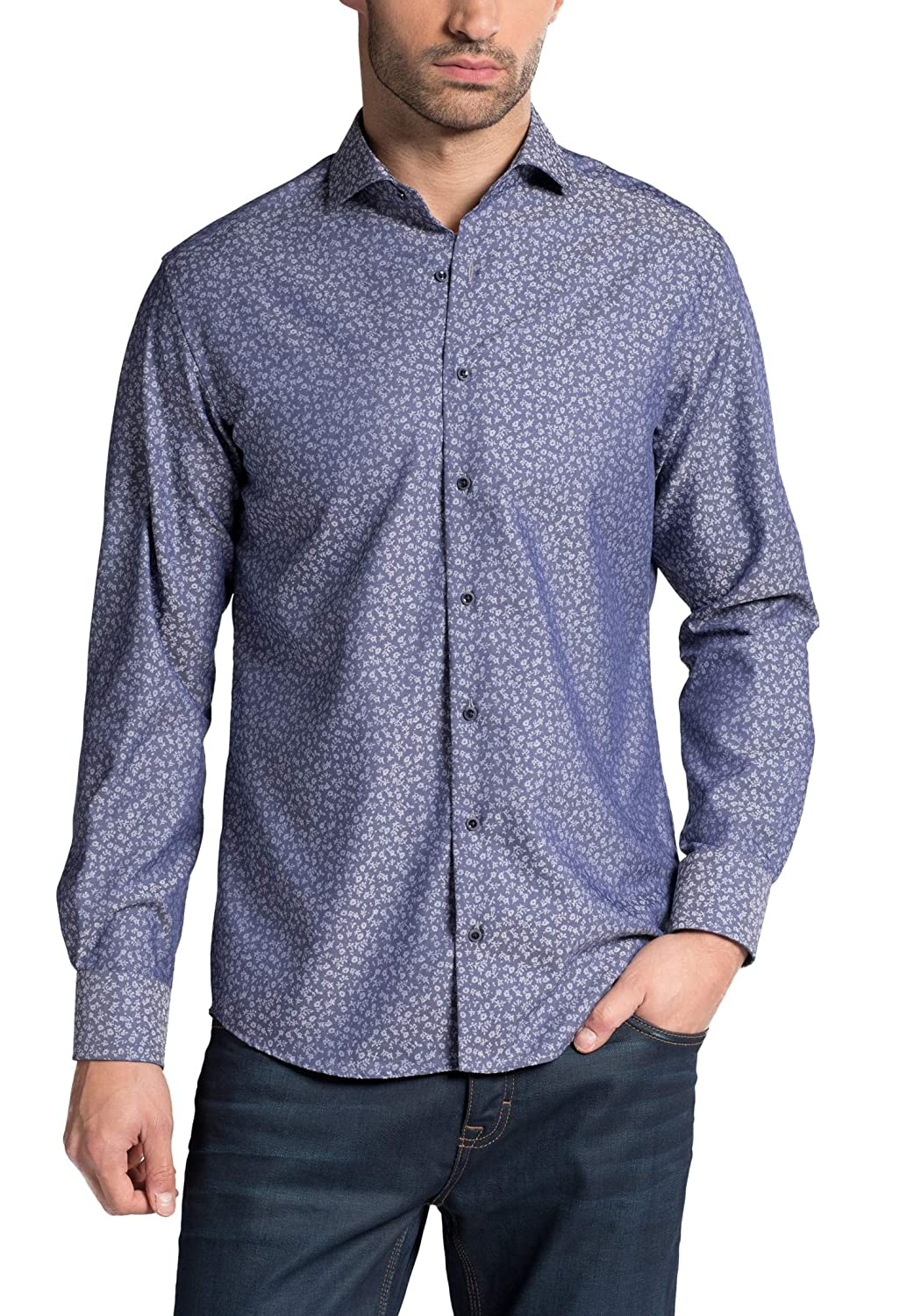TALLA W42, Longitud manga larga. Eterna Long Sleeve Shirt Modern FIT Jacquard Patterned