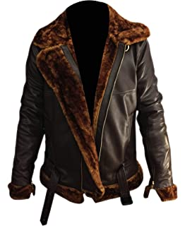 039b75c7e Aviatrix Men's Real Leather Vintage Pilot Flight Bomber Patch Jacket ...