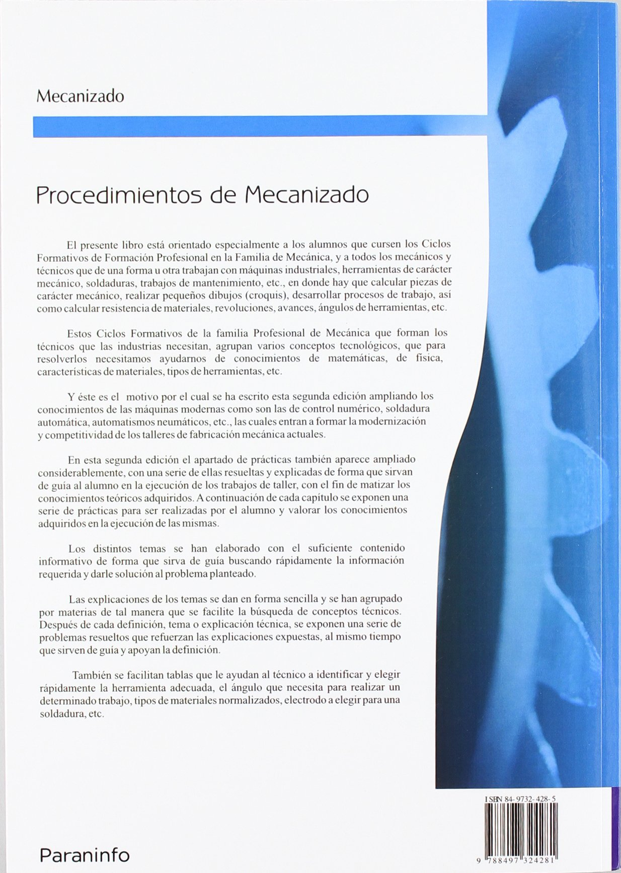 Procedimientos de mecanizado: Simón Millán Gómez: 9788497324281: Amazon.com: Books