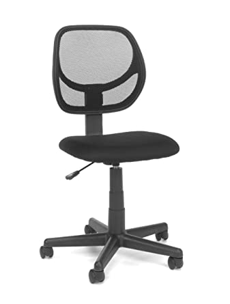 Essentials By OFM Armless Mesh Task Chair, Black