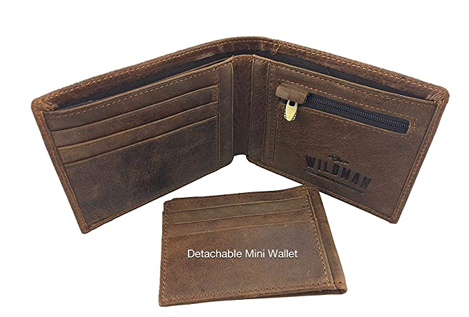 Amazon.com: Wildman - Cartera de piel para hombre, bolsillo ...