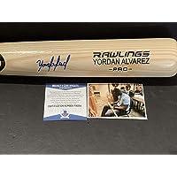 $209 » Yordan Alvarez Autographed Signed Blonde ENGRAVED Baseball Bat Beckett WITNESS COA