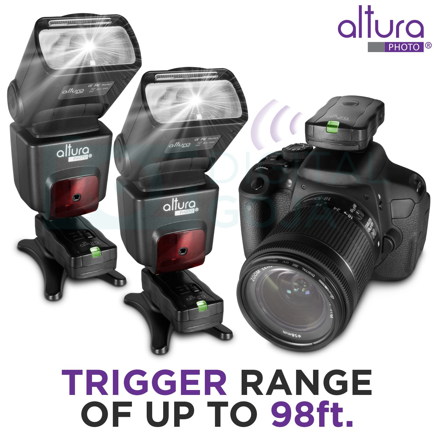 2 Trigger Pack Altura Photo Wireless Flash Trigger For Nikon W