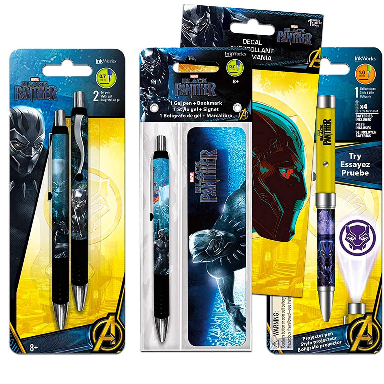 Black Panther - Juego de 3 bolígrafos de gel, 1 bolígrafo ...