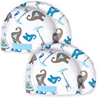 Tortle Lucky Elephant Head Repositioning Beanies, Corrective Hat for Flat Head Syndrome, 2 Pack (1 Medium & 1 Large)