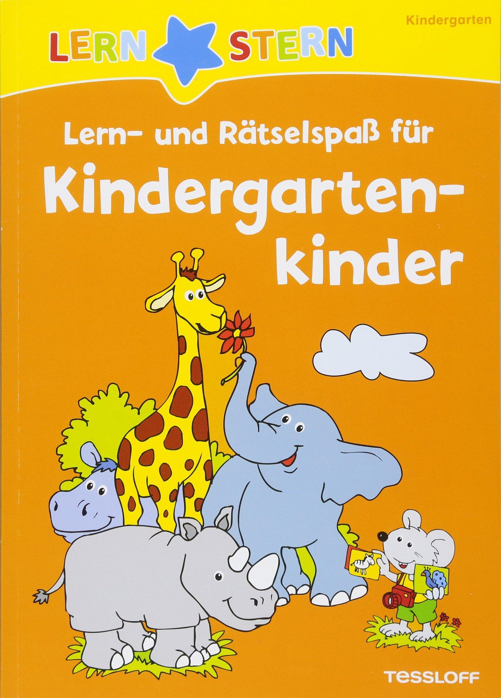 Lern- und Rätselspaß für Kindergartenkinder: Rätseln, spielen, lernen! (LERNSTERN) Taschenbuch – 13. Juni 2018 Antje Flad 3788675187 empfohlenes Alter: ab 4 Jahre für die Vorschule
