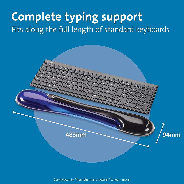 noir Dynamovolition Bureau antid/érapant gel noir repose-poignet soutien confort pad pour PC ordinateur clavier de jeu plate-forme sur/élev/ée mains