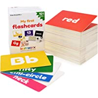 My First Flash Cards for Toddlers - 101 Cards - 202 Sides - Learn Shapes, Numbers, Colors, Body Parts, Counting, Letters…
