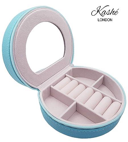 Kashé Caja de Joyería - Organizador de Joyas para Viajes Pequeños de HQ con Espejo Incorporado