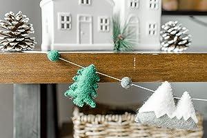 Mountain and Trees Wall Decor/Nursery Decor/Kids Room Banner/Woodland Decor/Mountain Range