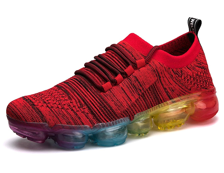 ONEAIR Hombre Zapatos Para Correr Transpirable Air Zapatillas de Running Para Mujer Deportivas Calzado Unisex Adult 42 EU: Fit longitud de pie 260mm|6021 Rojo