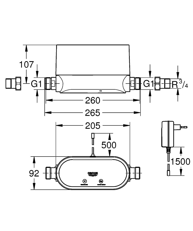 Grohe Sense Guard - Controlador de agua inteligente Ref. 22500LN0: Amazon.es: Bricolaje y herramientas