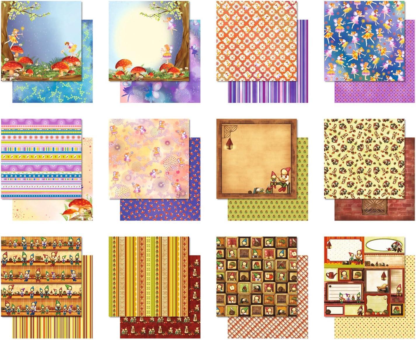 30,5 x 30,5 cm ca 12 Blatt sortiert in 12 Motiven Ursus 70350099 Premium Glitter Scrapbook paper Block 1