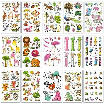 SZSMART Tatuajes Animales, Zoológico Tatuajes Temporales para ...