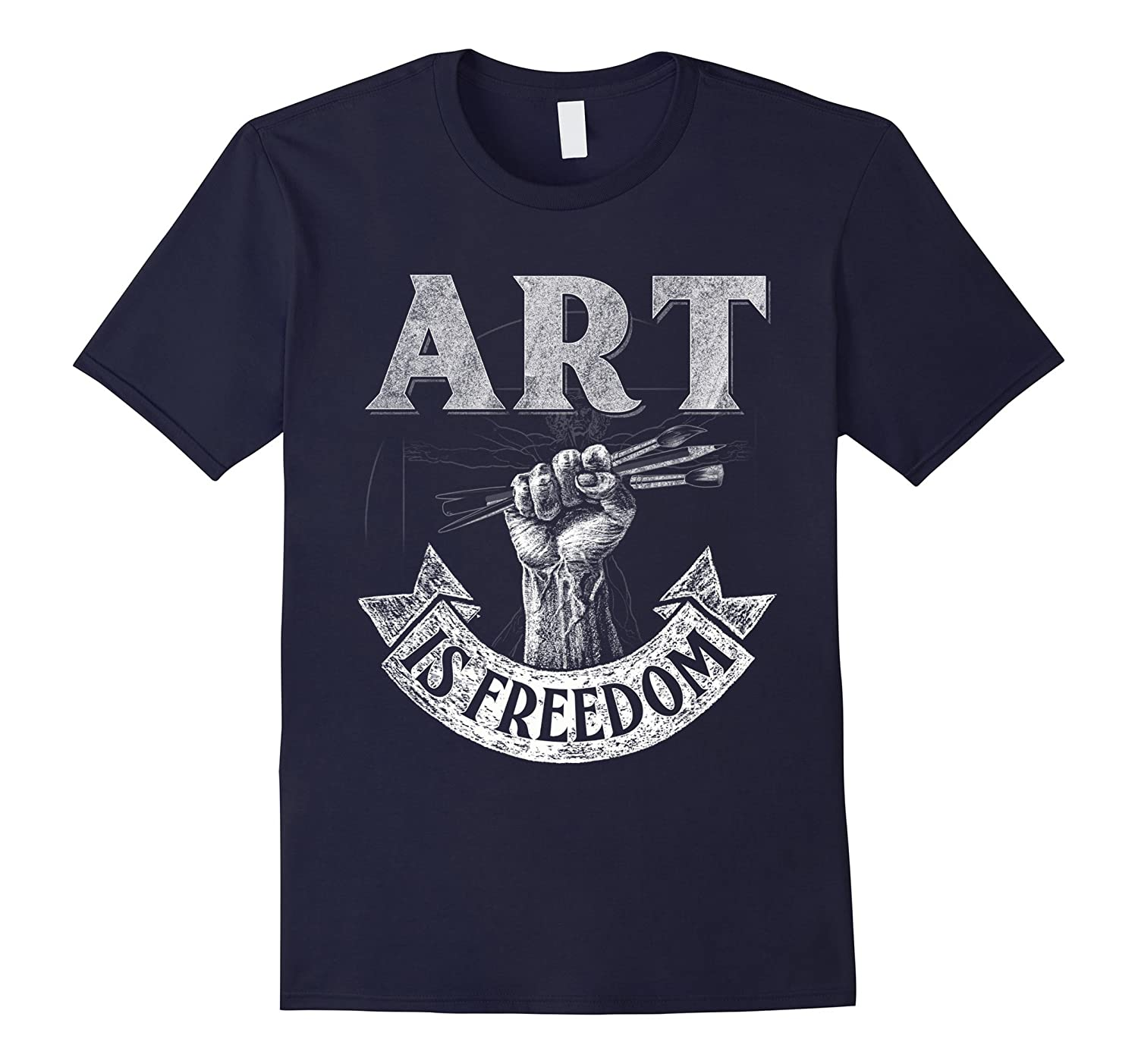 Art is Freedom great t shirt for artists who love to draw-TJ