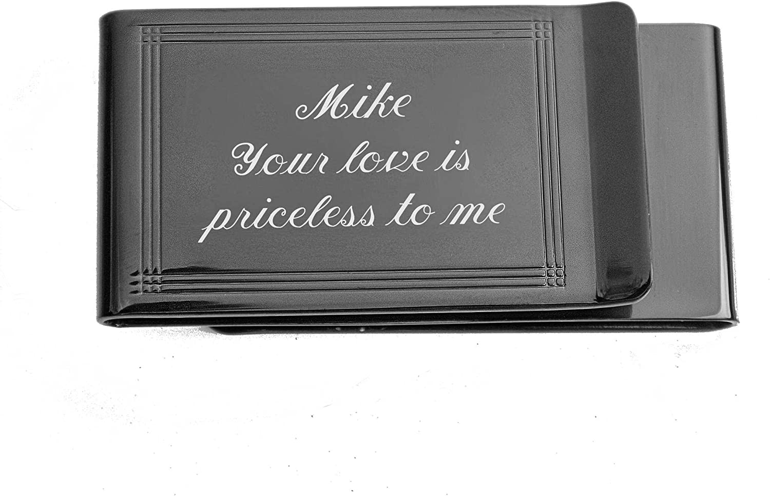 2 Personalized money clips best man gift free engraving custom presents